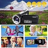 Videokamera Camcorder GDV5162 Wiederaufladbare Digitalkamera FHD 1080P 12MP DV 270° LCD drehbarer Bildschirm, Camcorder für Kinder/Anfänger/ältere Menschen - 6