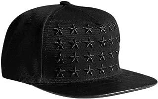Locomo Star Embroidery PU Leather Crocodile Skin Pattern Snapback Cap FFH134RED