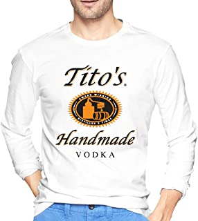 Qq15-kcdds-store Tito's Vodka Men Round Neck Long Sleeve Pullover T-Shirt
