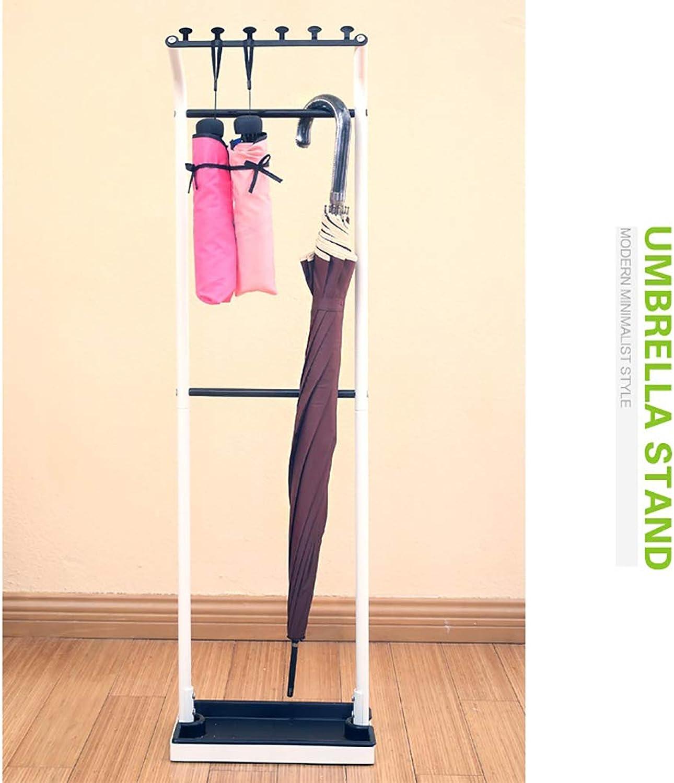 Bracket Structure Umbrella Stand Storage Rack Holder for Front Door Entryway, Freestanding Natural