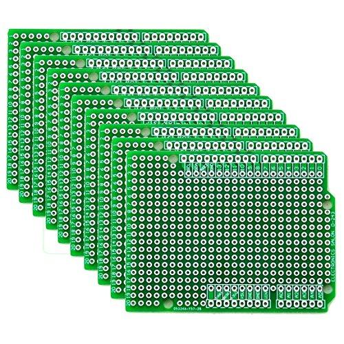 Electronics-Salon 10x Prototyp Leiterplatte für Arduino UNO R3Schutzplatte DIY, von CZH-LABS