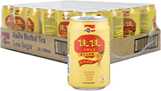 JJ Jia Jia Herbal Tea Less Sugar Case, 300 ml (Pack of 24)
