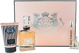 Juicy Couture Juicy Couture 4 Pc. Gift Set (Eau De Parfum Spray 3.4 Oz & 0.33 Oz + Royal Body CrÈme 4.2 Oz. + Parfum .17 Oz.) for Women by Juicy Couture, 239.55 milliliters