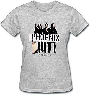 2d67fc6ef LIOLI Women's Phoenix Band Design Cotton T Shirt