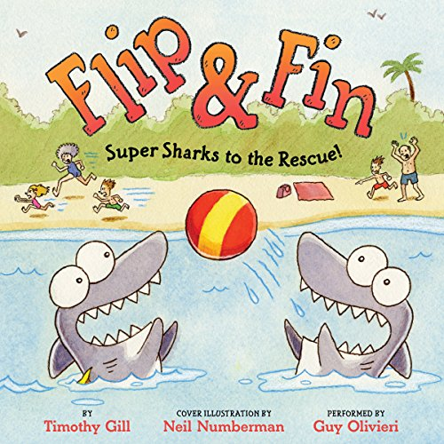 Flip & Fin: Super Sharks to the Rescue! audiobook cover art