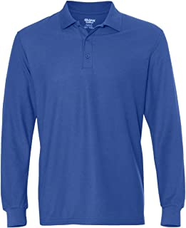 DryBlend Double Piqu Long-Sleeve Polo (G729)