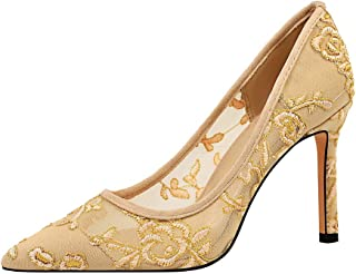 BalaMasa Womens APL12225 Pointed-Toe Comfort Wedding Yellow Pu Heeled Sandals - 3 UK (Lable:35)