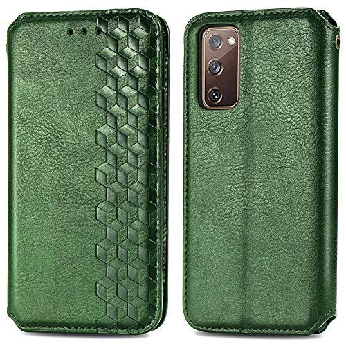 3Ciker Funda para Samsung Galaxy S20 FE 5G, funda de piel con tapa para Galaxy S20 FE 5G, funda protectora con tarjetero y función atril, cierre magnético, funda de piel para Samsung S20 FE 5G
