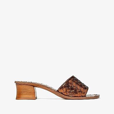Bottega Veneta Intrecciato Heeled Sandal (Calvados) High Heels