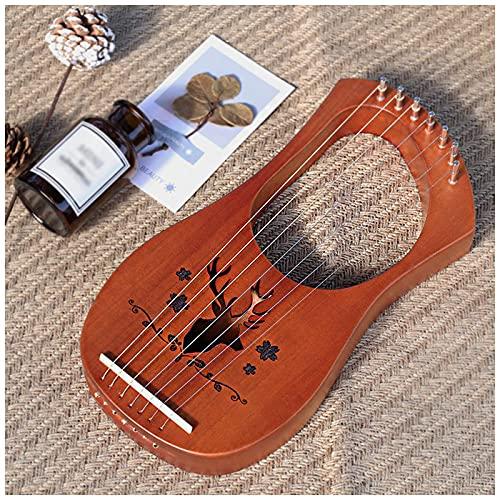 ZHBH Lyre Harp Pequeño 7 Cuerdas, Lyre Piano Cuerdas de Alambre de...