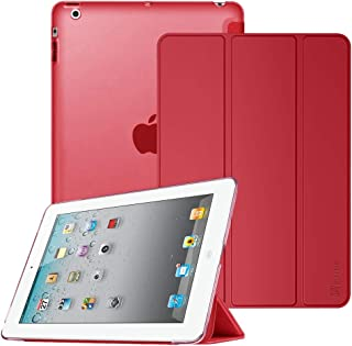 Fintie iPad 2/3/4 Case - Lightweight Smart Slim Shell Translucent Frosted Back Cover Supports Auto Wake/Sleep for iPad 4th Generation with Retina Display, iPad 3 & iPad 2, Red