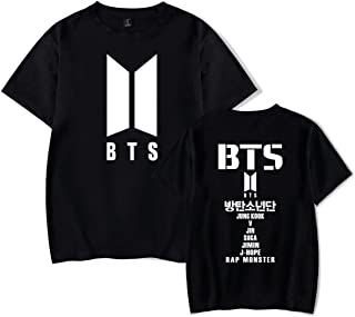 ATIWING BTS Love Yourself Jimin V SUGA JUNG Short Sleeve T-Shirt for Men,Women