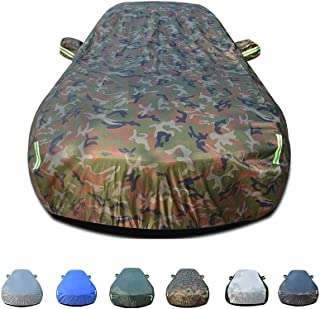 KTYXDE Car Cover Rainproof, Windproof, Dustproof, UV Resistant, Non-Flammable, Oxford Cloth Cover, Suitable for Jeep Free Internal and External Use Car Cover (Color : E)