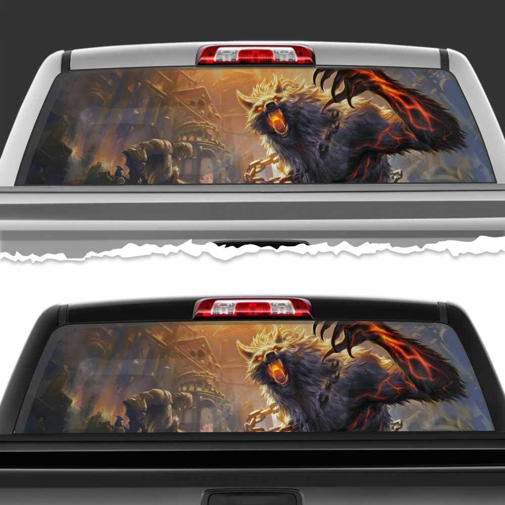 Simynola Werewolf Chain Fury Year-end gift Perforated Film Tru Accessories Car outlet
