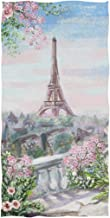 Naanle Vintage Style Beautiful Eiffel Tower Paris View Print Soft Absorbent Large Hand Towels Multipurpose for Bathroom, H...
