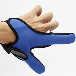 Isafish Anti-Slip Breathable Fishing Gloves Double Finger Glove Thumb & Index Finger Protector for Left Hand Random Color