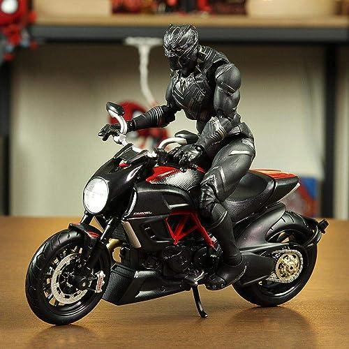 Marvel Avengers Vinyle Action Panthère Modèle De voitureactère Mobile 16CM Off-Road Motorcycle
