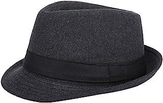 comprar comparacion AIEOE - Sombrero Hombre Fieltro Panamá Británico Gorro Jazz con ala Ancha Hat Caballeros Elegante para Adulto Chicos Hombr...