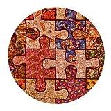Colorful puzzle de concienciación sobre el autismo piezas Mini ratón Gaming diseño redondeado Mousepad