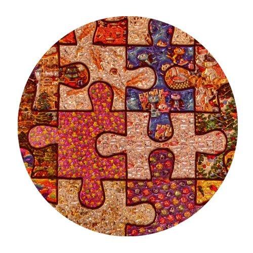 Colorful puzzle de concienciación sobre el autismo piezas Mini ratón Gaming diseño redondeado pad
