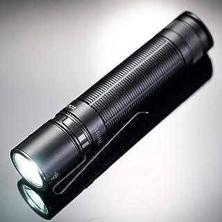 Klarus E2+, 1600 lumen, LED-zaklamp, 1600 lumen, max. bereik 190 m, IPX8, oplaadbare 18650-batterij met 3600 mAh, met exte...