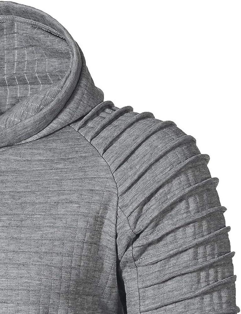 Mens Hoodies Drawstring with Pocket Athletic Casual Pullover Tops Men's Simple Hooded Long Sleeve Sweatshirt