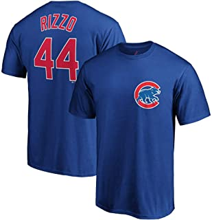 Outerstuff Anthony Rizzo Chicago Cubs MLB Majestic Boys Youth 8-20 Blue Official Player Name & Number T-Shirt