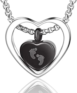 Urn Necklace Cremation Jewelry Memorial Necklace for Ashes Keepsake Gift