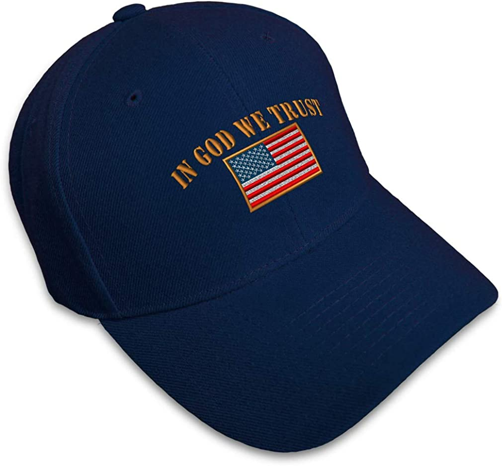 Baseball 5% OFF Cap in God We American Trust Clearance SALE Limited time Embroidery Countries Flag