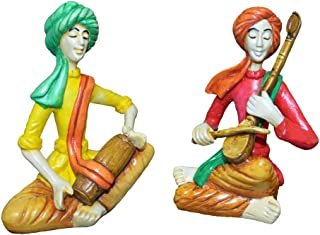 Karigaari India Set of 2 Men Playing Dholak & Sarangi