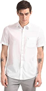 US Polo Association Men's Solid Regular fit Casual Shirt (USSH5796H_White 3XL)