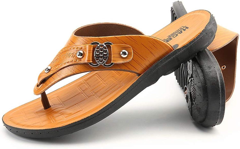 TD R813 Men Sandals Tide Leisure Personality Non-slip Beach Sand Drag (color   Yellow, Size   EU39 UK6.5 CN40)