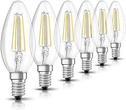 OSRAM LED Retrofit Classic B / LED lamp, Classic Mini Candle Shape: E14, 4 W, 220…240 V, 40 W Replacement, Clear, Warm Whi...