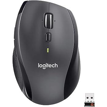 Logitech M705 Marathon Mouse Wireless, 2.4 GHz Con Mini Ricevitore USB Unifying, Rilevamento Laser 1000 DPI, 7 Pulsanti, Pulsanti Per Pollice, Batteria Lunga Durata Fino a 3 Anni, PC/Mac/Laptop, Nero