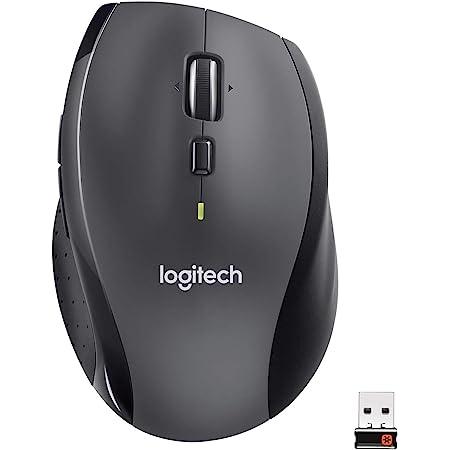 Logitech M705 Souris sans Fil Marathon, 2,4 GHz avec Nano-Récepteur USB Unifying, Suivi Laser 1000 PPP, 7 Boutons, 2 Boutons Supplémentaires, Batterie Longue Durée 3 Ans, PC/Mac/Chromebook - Noir