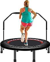 40/48/50 Inch Fitness Trampolines, Opvouwbare Trampoline, Mini-trampoline Met Armleuning, Geschikt Voor Binnen- En Buiteng...