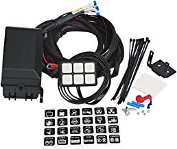 WATERWICH 6 Gang Switch Panel Electronic Relay System Circuit Control Box Waterproof Fuse Relay Box Wiring Harness Assemblies For Car Auto Truck Boat Marine (Universal 6 gang button switch panel)