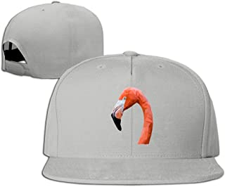 NUBIA Cultural Symbol Pink Flamingo Running Hip Hop Hat Adjustable Snapback Flexfit Flat Cap Natural