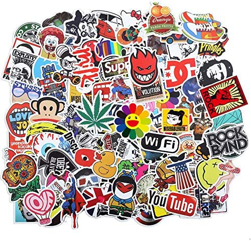 Laptop Graffiti Stickers for Kids Teens Adults 100pcs Assorted Waterproof Vinyl Cool Doodle product image