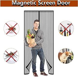 Protecci/ón contra Insectos MENGH Mosquitera Puerta 170x210cm Cortina Mosquitera para Puertas F/ácil de Instalar Puertas//para Pasillos Negro