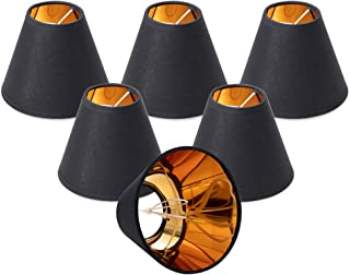 Wellmet Chandelier Shades,ONLY for Candle Bulbs,Clip-on Fitter Lamp Shades,Set of 6,3