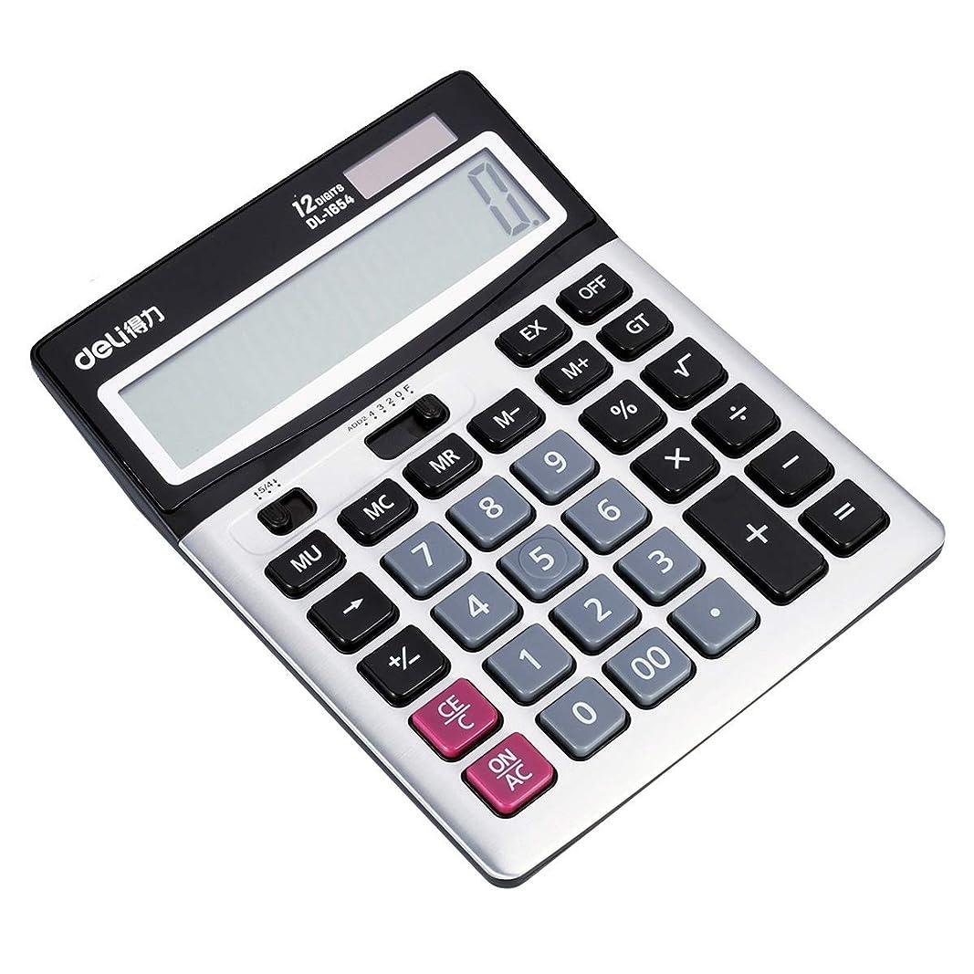 ミサイル兵隊平らな電卓財務会計ソーラーデュアルパワーオフィスビジネス大きなボタン多機能-学生デスクトップコンピュータ12ビット