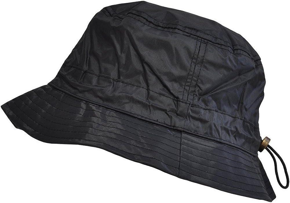 Toutacoo, Adjustable Bucket Rain Hat, Nylon Look