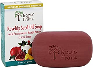 Roots & Fruits Rosehip Seed Oil Bar Soap, 5 Oz
