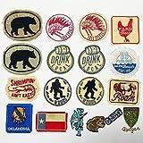 iron on patch,parches para ropa,Aplique de bordado, utilizado para decorar ropa para reparar agujeros en la ropa, pollo inglés 17 piezas