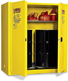 Eagle HAZ1955 Drum Storage Safety Cabinet for Flammable Liquids, 2 Door Manual Close, 110 gallon, 65
