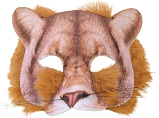 Furry Animal Adult Costume Half Mask