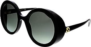 GG0367S 001 Shiny Black GG0367S Round Sunglasses Lens Category 2 Size 53m