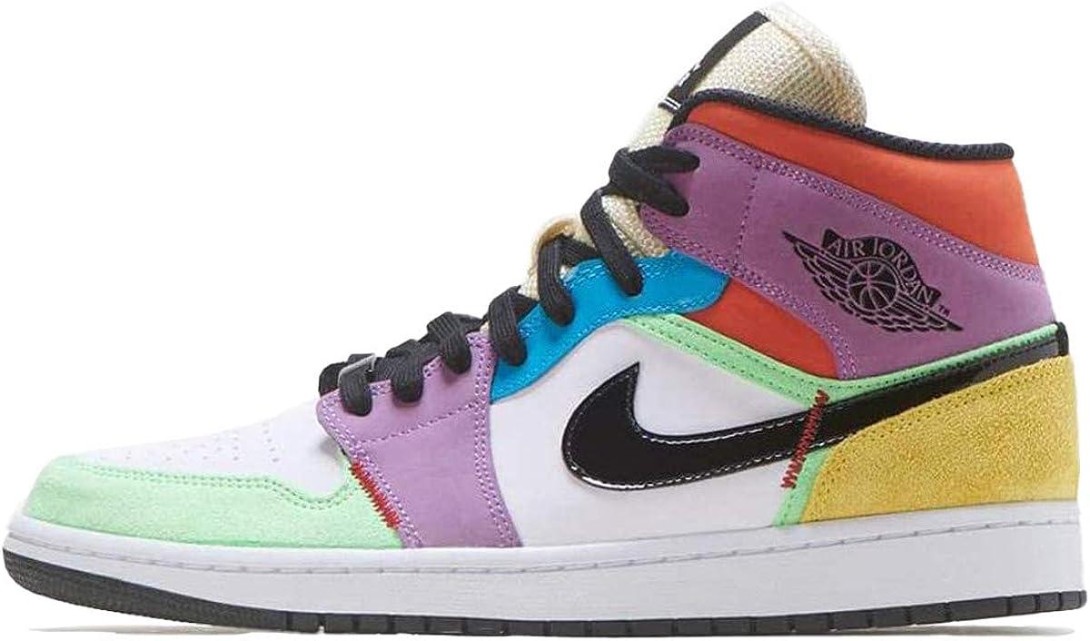 Jordan Nike Women's Shoes Air 1 Mid SE Light Club CW1140-100
