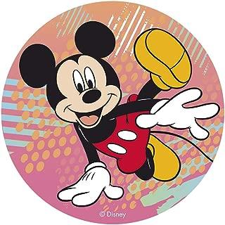 Dekora-114378 Decoracion Tartas de Cumpleaños Infantiles en Disco de Oblea de Mickey Mouse-20 cm Diametro (114378)